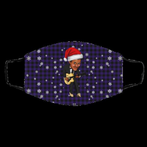 Chuck Berry Merry Christmas Face Mask