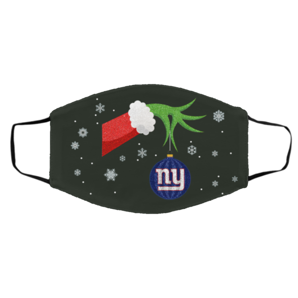 The Grinch Christmas Ornament New York Giants Face Mask