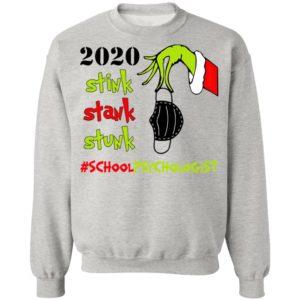 Grinch 2020 Stink Stank Stunk Christmas School Psychologist T-Shirt