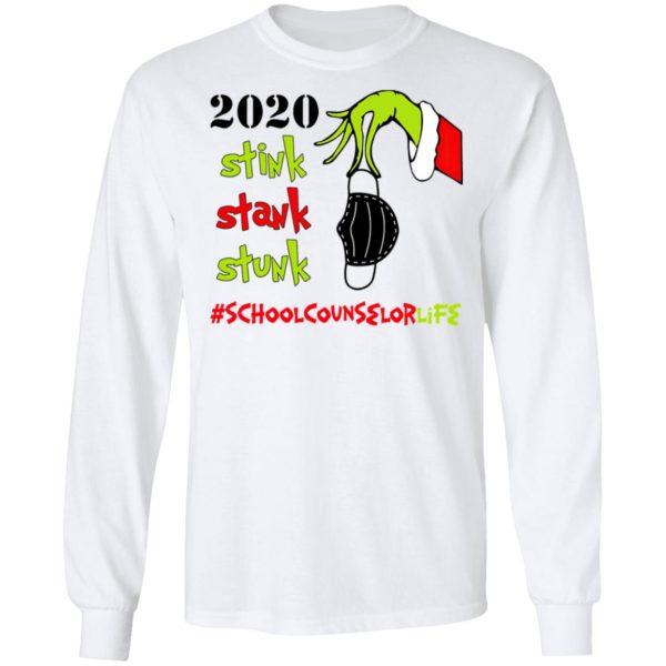 Grinch 2020 Stink Stank Stunk Christmas School Counselor T-Shirt