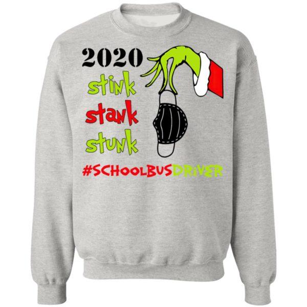 Grinch 2020 Stink Stank Stunk Christmas School Bus Driver T-Shirt