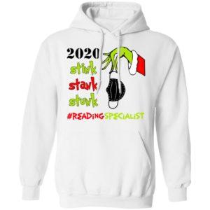Grinch 2020 Stink Stank Stunk Christmas Reading Specialist T-Shirt