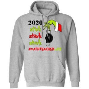 Grinch 2020 Stink Stank Stunk Christmas Math Teacher T-Shirtv