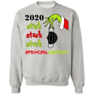 Grinch 2020 Stink Stank Stunk Christmas Principal Assistant T-Shirt