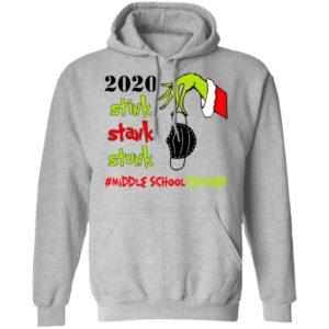 Grinch 2020 Stink Stank Stunk Christmas Middle School Teacher T-Shirt