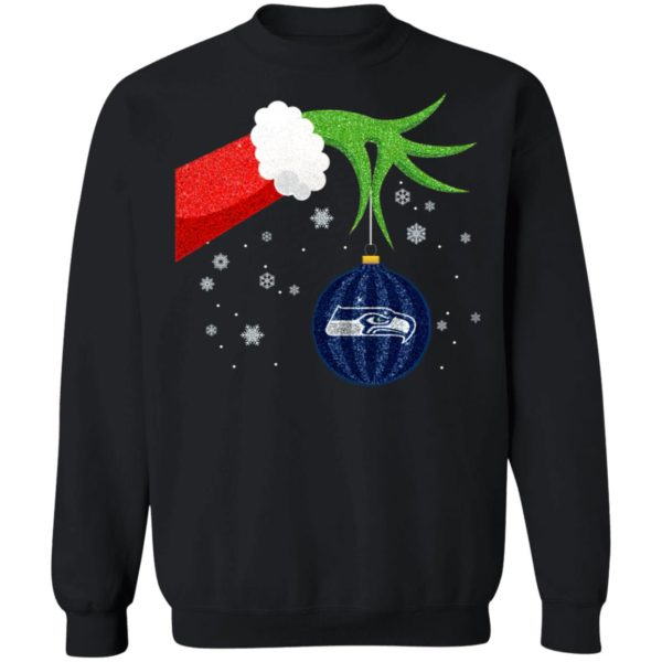 The Grinch Christmas Ornament Seattle Seahawks Shirt
