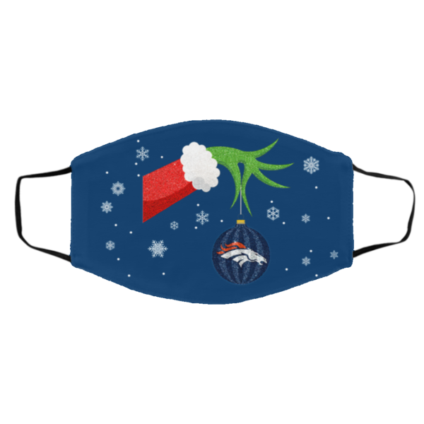 The Grinch Christmas Ornament Denver Broncos Face Mask