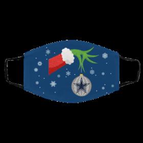 The Grinch Christmas Ornament Dallas Cowboys Face Mask