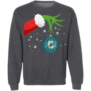 The Grinch Christmas Ornament Miami Dolphins Shirt