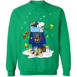 Real Salt Lake Santa Snoopy Wish You A Merry Christmas Shirt