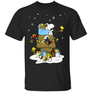 Purdue Boilermakers Santa Snoopy Wish You A Merry Christmas Shirt