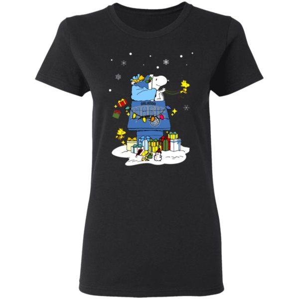 Orlando Magic Santa Snoopy Wish You A Merry Christmas Shirt