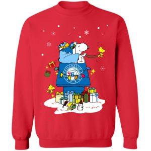 Philadelphia 76er Santa Snoopy Wish You A Merry Christmas Shirt
