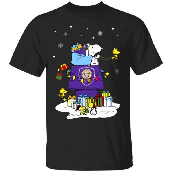 Orlando City SC Santa Snoopy Wish You A Merry Christmas Shirt