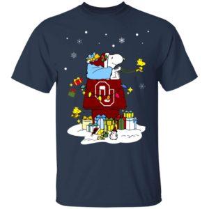 Oklahoma Sooners Santa Snoopy Wish You A Merry Christmas Shirt