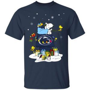 Penn State Nittany Lions Santa Snoopy Wish You A Merry Christmas Shirt