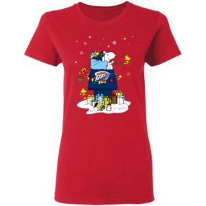 Oklahoma City Thunder Santa Snoopy Wish You A Merry Christmas Shirt