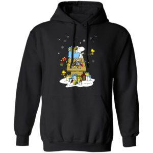 Navy Midshipmen Santa Snoopy Wish You A Merry Christmas Shirt