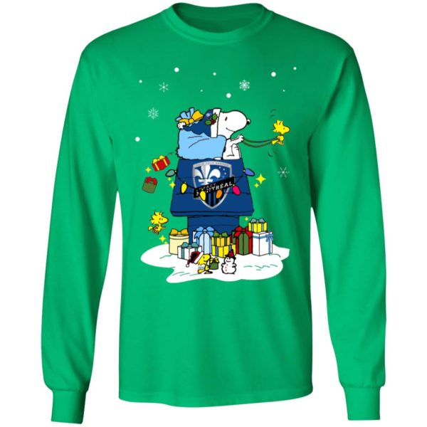 Montreal Impact Santa Snoopy Wish You A Merry Christmas Shirt