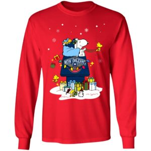 New Orleans Pelicans Santa Snoopy Wish You A Merry Christmas Shirt