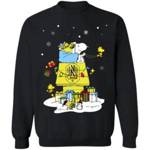 Nashville SC Santa Snoopy Wish You A Merry Christmas Shirt