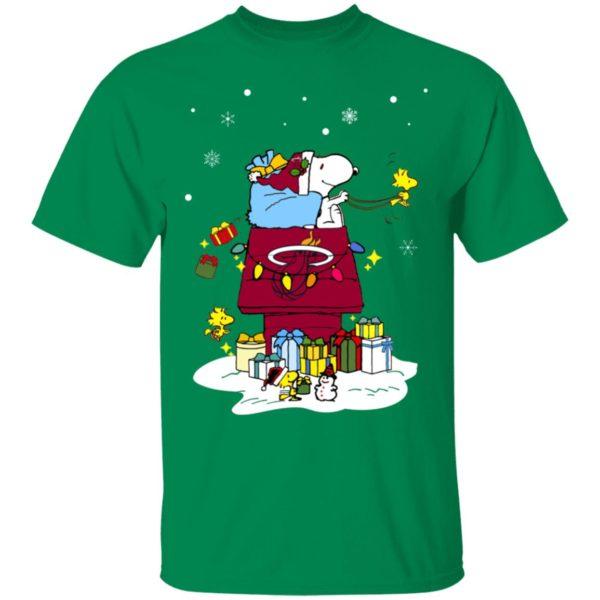 Miami Heat Santa Snoopy Wish You A Merry Christmas Shirt