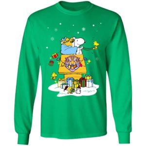 LSU Tigers Santa Snoopy Wish You A Merry Christmas Shirt