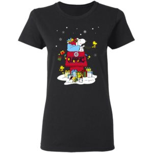 Los Angeles Clippers Santa Snoopy Wish You A Merry Christmas Shirt