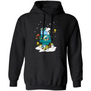 Miami Dolphins Santa Snoopy Wish You A Merry Christmas Shirt