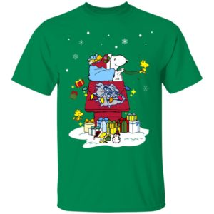 Gonzaga Bulldogs Santa Snoopy Wish You A Merry Christmas Shirt