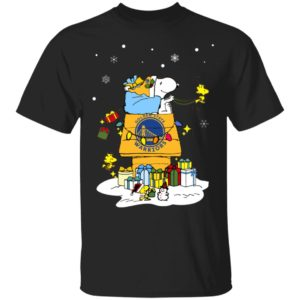 Golden State Warriors Santa Snoopy Wish You A Merry Christmas Shirt