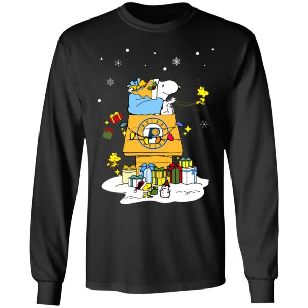 Indiana Pacers Santa Snoopy Wish You A Merry Christmas Shirt