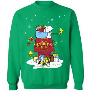 Iowa State Cyclones Santa Snoopy Wish You A Merry Christmas Shirt