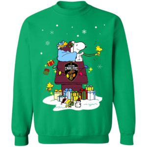 Cleveland Cavaliers Santa Snoopy Wish You A Merry Christmas Shirt