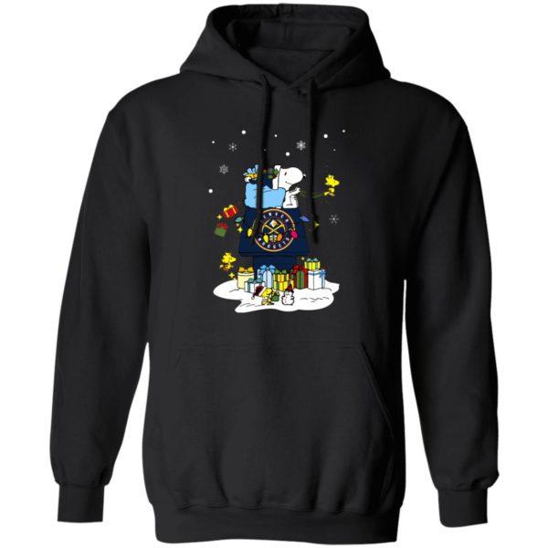 Denver Nuggets Santa Snoopy Wish You A Merry Christmas Shirt