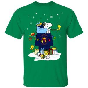 Chicago Fire Santa Snoopy Wish You A Merry Christmas Shirt