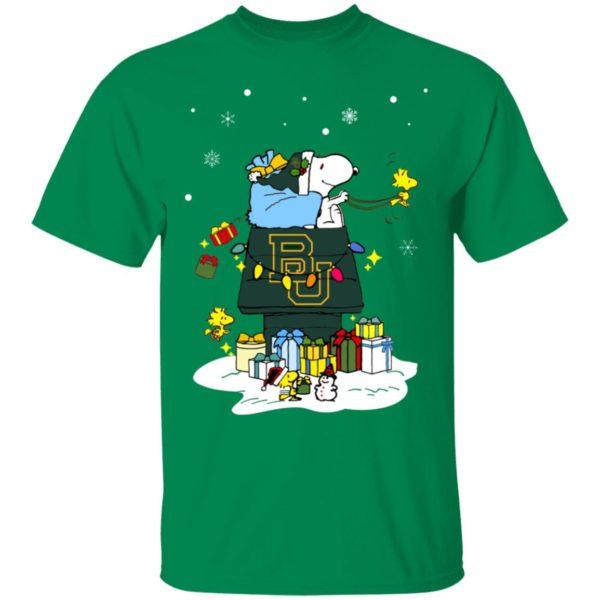 Baylor Bears Santa Snoopy Wish You A Merry Christmas Shirt