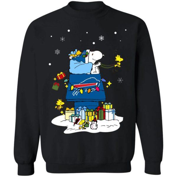 Buffalo Bills Santa Snoopy Wish You A Merry Christmas Shirt