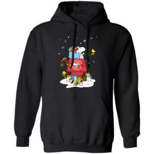 Atlanta Hawks Santa Snoopy Wish You A Merry Christmas Shirt