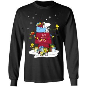 Alabama Crimson Tide Santa Snoopy Wish You A Merry Christmas Shirt