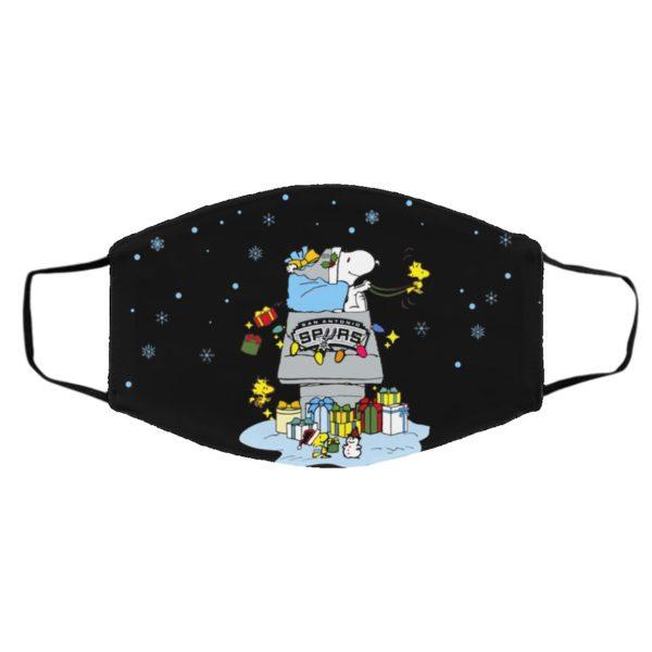 San Antonio Spurs Santa Snoopy Wish You A Merry Christmas face mask