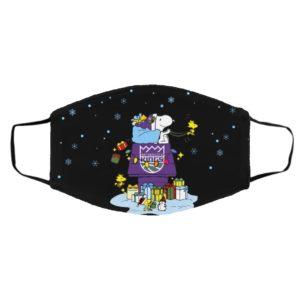 Sacramento Kings Santa Snoopy Wish You A Merry Christmas face mask