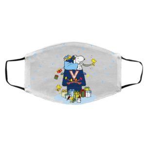 Virginia Cavaliers Santa Snoopy Wish You A Merry Christmas face mask