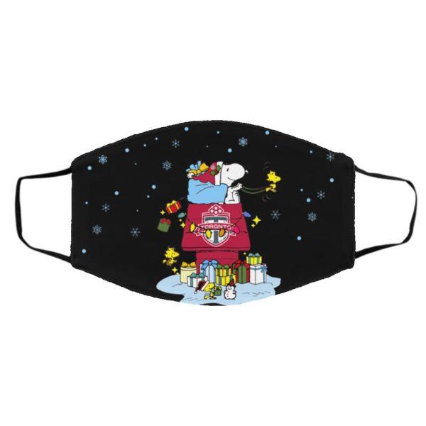 Toronto FC Santa Snoopy Wish You A Merry Christmas face mask