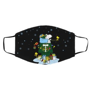 Portland Timbers Santa Snoopy Wish You A Merry Christmas face mask