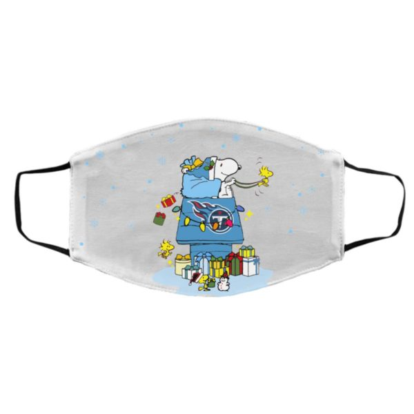Tennessee Titans Santa Snoopy Wish You A Merry Christmas face mask