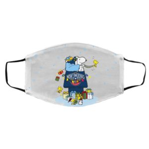 New Orleans Pelicans Santa Snoopy Wish You A Merry Christmas face mask