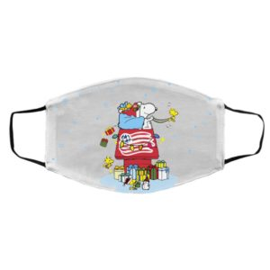 New England Revolution Santa Snoopy Wish You A Merry Christmas face mask