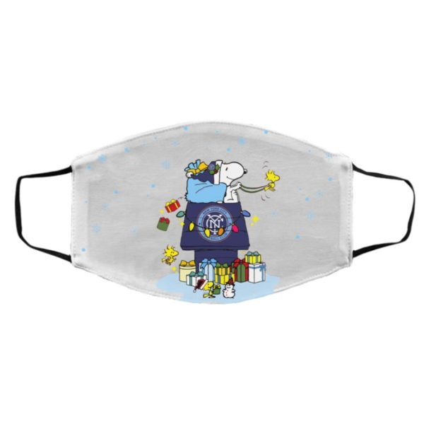 New York City FC Santa Snoopy Wish You A Merry Christmas face mask