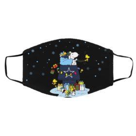 Dallas Cowboys Santa Snoopy Wish You A Merry Christmas face mask